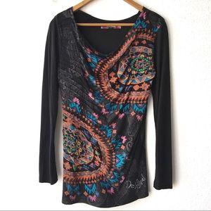 Designated Embroidered Cowl Neck Top Vida Chula